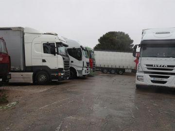 Camiones retenidos en Zaragoza