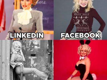 Las cuatro fotografías publicadas por Dolly Parton.