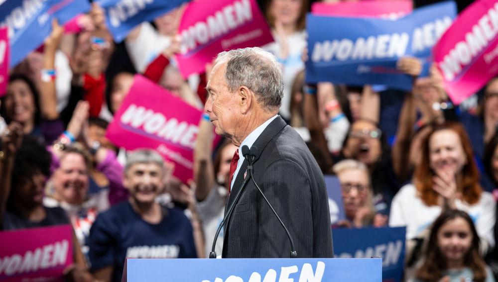 El precandidato demócrata Michael Bloomberg durante un mitin hace unos días.
