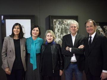 De izqda. a dcha.: Maria Blasco, Amparo Garrido, Carmen Calvo, Juan Luis Arsuaga y Borja Baselga