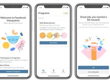 Imagen de Viewpoints, la app de Facebook para estudios de mercado.