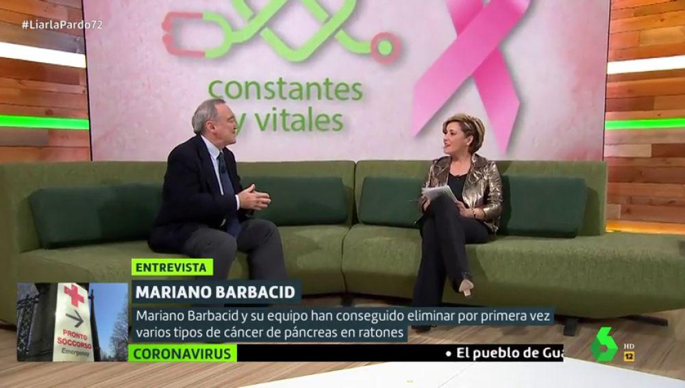 Mariano Barbacid visita el plató de Liarla Pardo para hablar del cáncer y de la situación en la que se encuentra la búsqueda de su cura