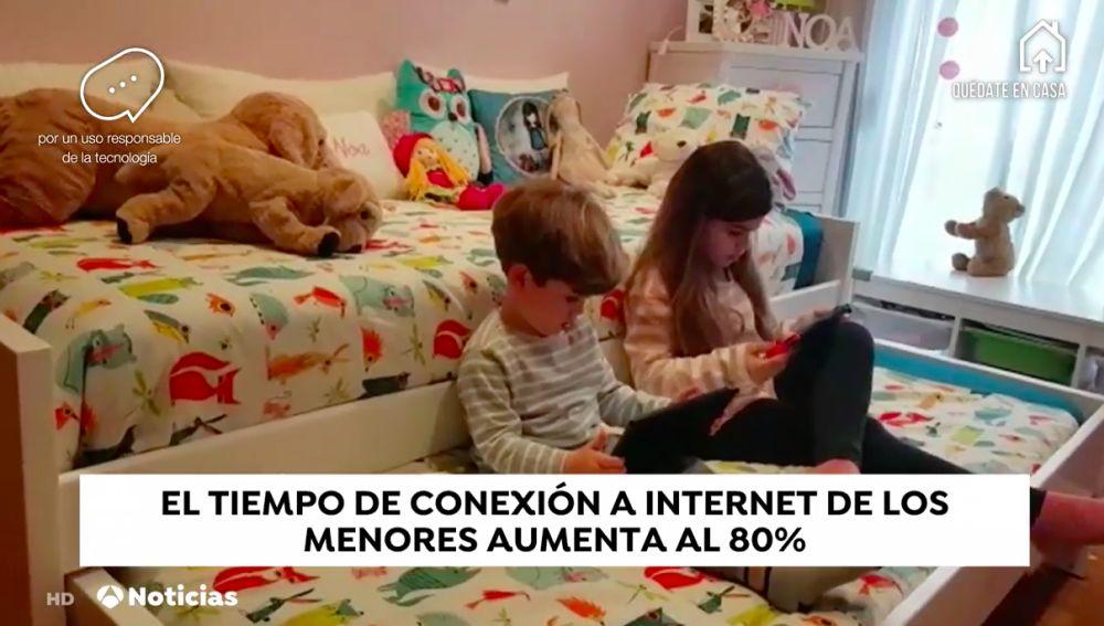 Menores conectados