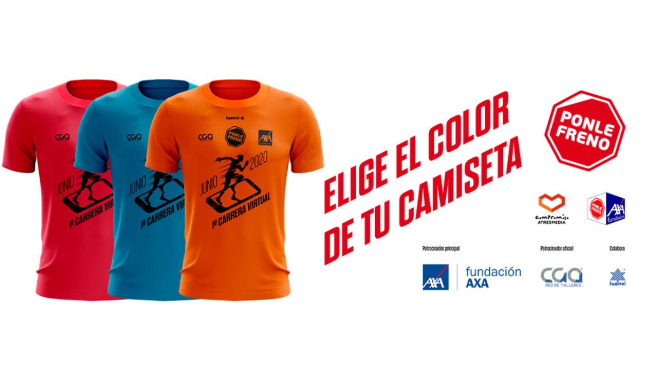 Elige el color de tu camiseta para la Ponle Freno Virtual