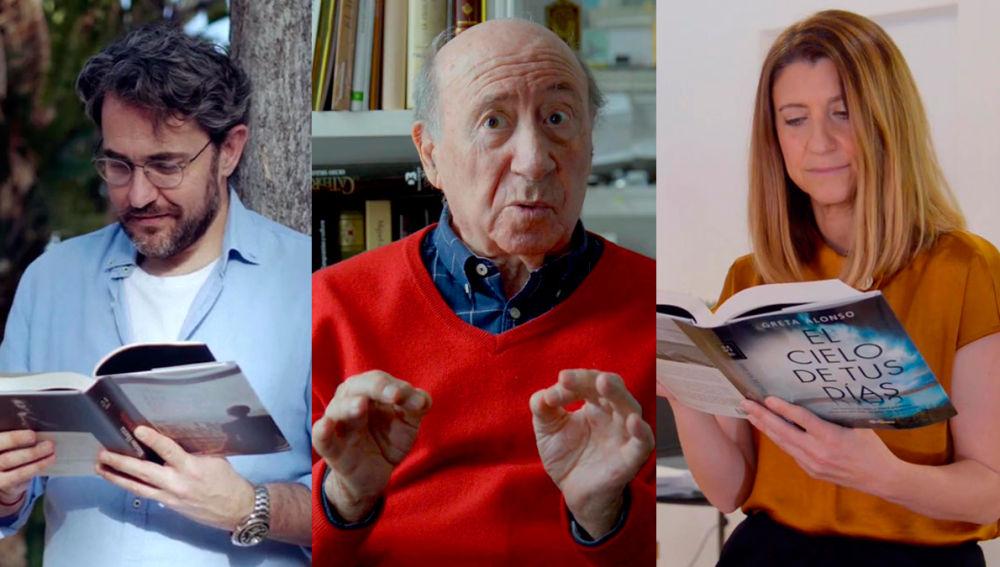 Máximo Huerta, José María Pérez Peridis y Greta Alonso en Crea Lectura