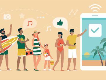 Vacaciones con smartphone