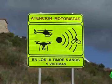Así es la nueva señal para los tramos más peligrosos para los motoristas