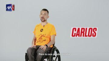 Carlos tiene una lesión medular por un accidente de tráfico