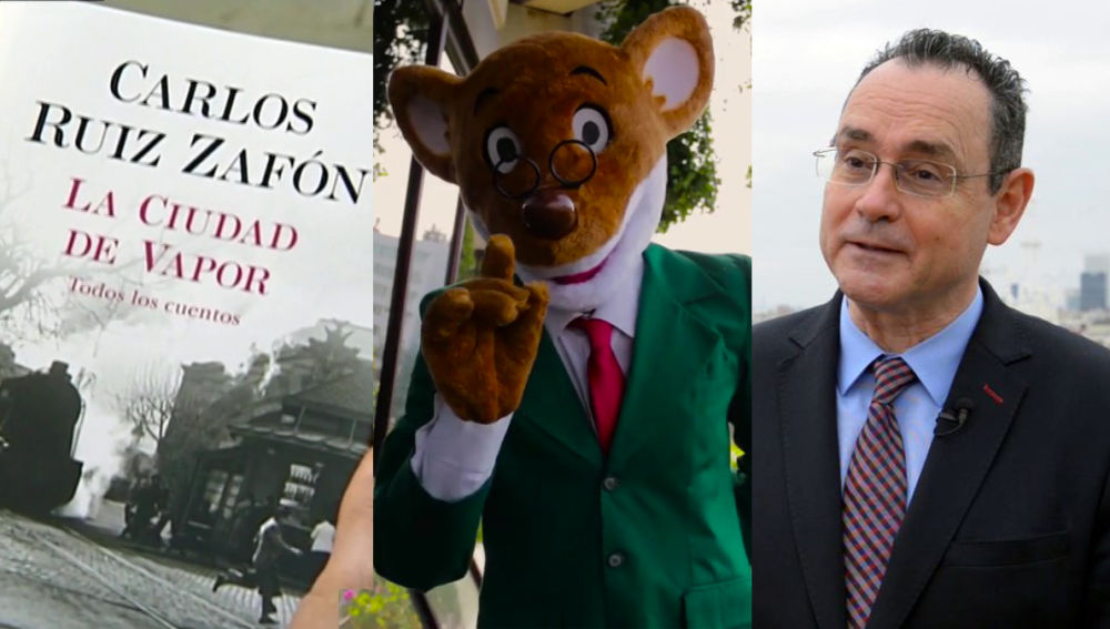 Geronimo Stilton, Pedro Baños y el libro póstumo de Carlos Ruiz Zafón en 'Crea Lectura'