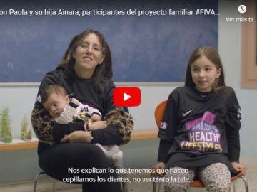 Paula y Ainara, participantes en el proyecto familiar Fivalin