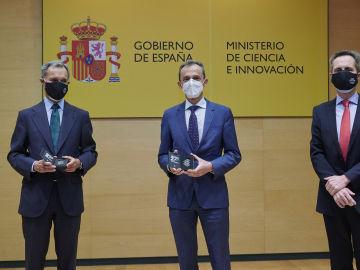 Silvio González, Pedro Duque y Jesús García-Foncillas