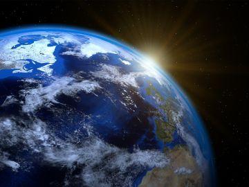 Imagen del océano atlántico desde el espacio
