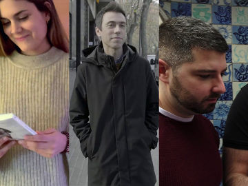 Elvira Sastre, Juanjo Sáez, David Sierra y Pedro Mañas en Crea Lectura