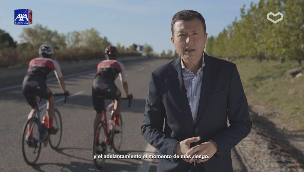 Manu Sánchez protagoniza  la campaña de Ponle Freno sobre ciclistas