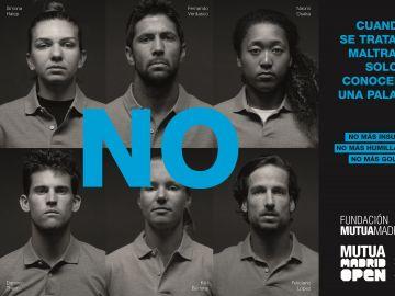 """Los mejores tenistas dicen """"no"""" al maltrato en una nueva iniciativa de sensibilización de la Fundación Mutua Madrileña"""