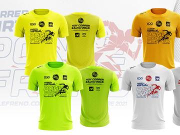 Las camisetas de la Carrera Virtual Ponle Freno