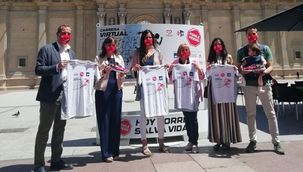 Presentación de la Carrera Virtual Ponle Freno en Zaragoza