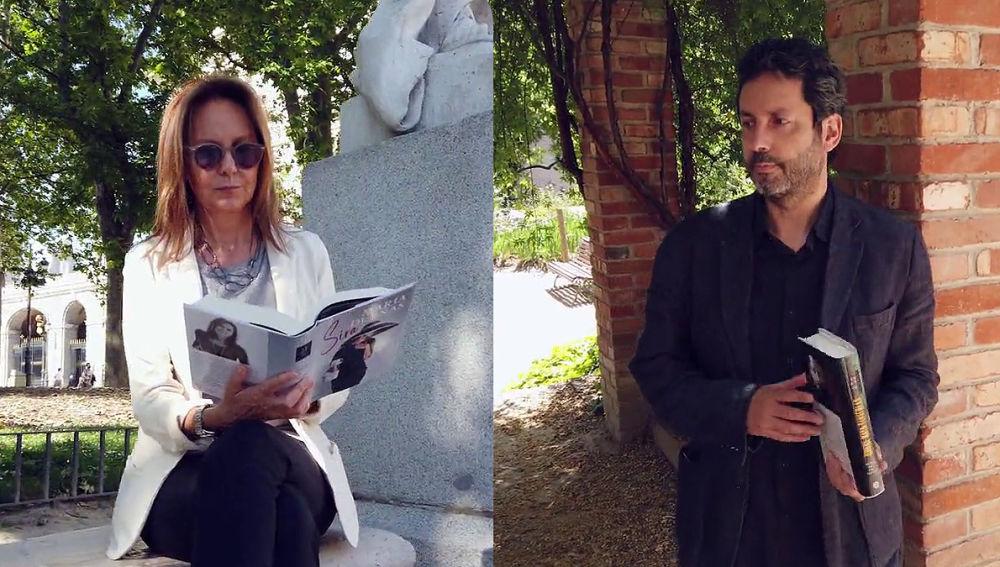 María Dueñas y Miguel Ríos San Martín en Crea Lectura