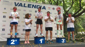 Ganadoras categoría 10 K de la Carrera Ponle Freno Valencia
