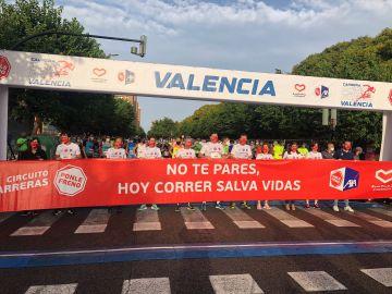 La pancarta de la Carrera Ponle Freno Valencia