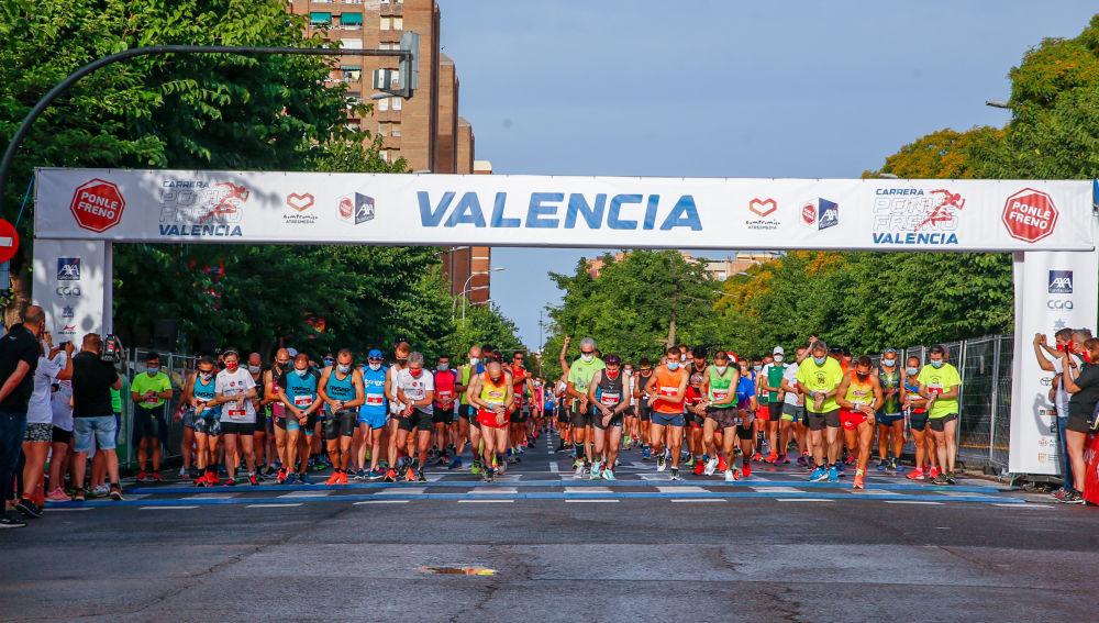 La salida de la Carrera Ponle Freno Valencia 2021
