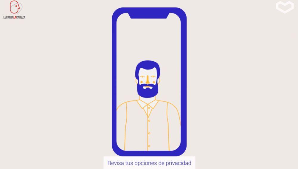Captura de vídeo con consejo sobre privacidad digital