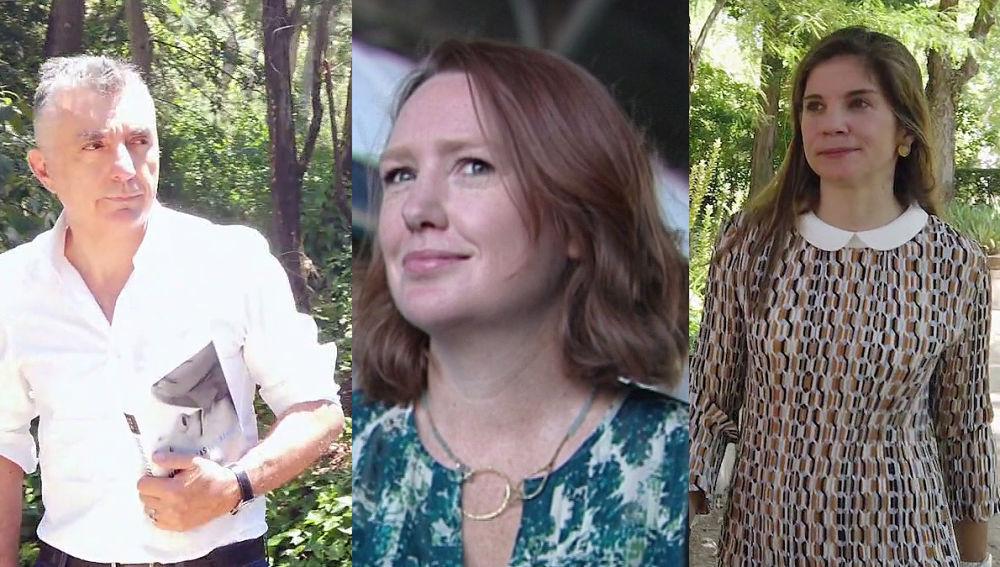 Paula Hawkins, Marian Rojas y Manuel Vilas en 'Crea Lectura'