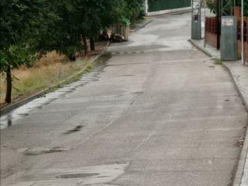 Carretera de Toledo con badenes desgastados