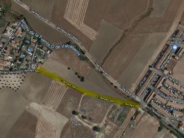 Carretera de Toledo sin acera y sin iluminación