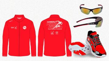 Cortavientos, gafas y zapatillas de la Carrera Ponle Freno 2021