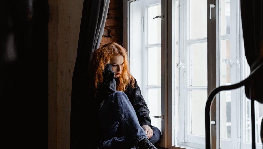 Persona joven con problemas de salud mental