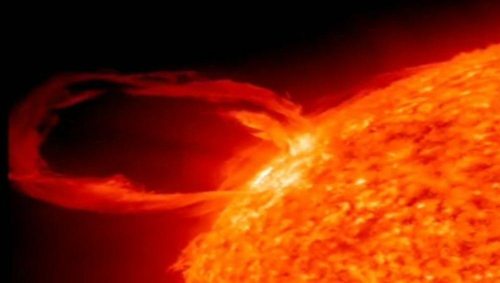Posible erupción solar