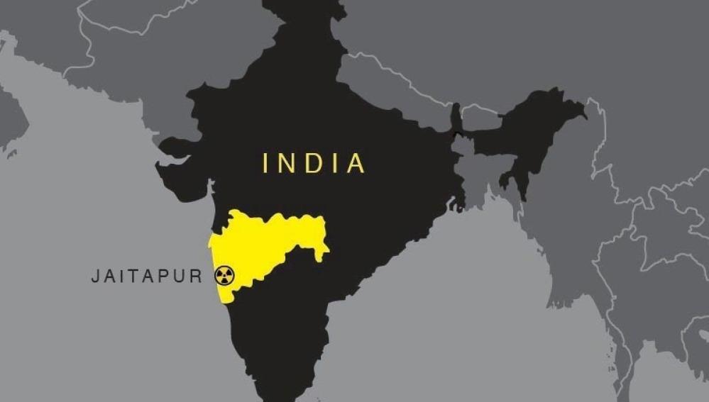 Jaitapur en la India