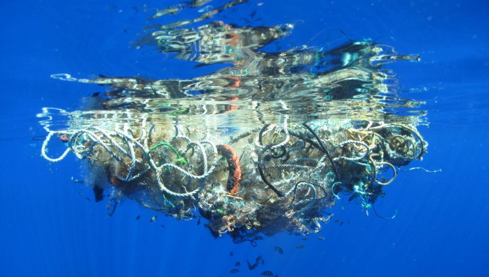 Residuos en el océano