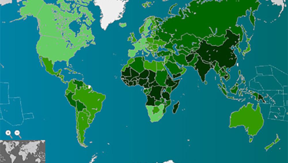 Mapa de la contaminación mundial