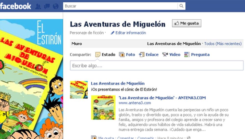 Las Aventuras de Miguelón en Facebook