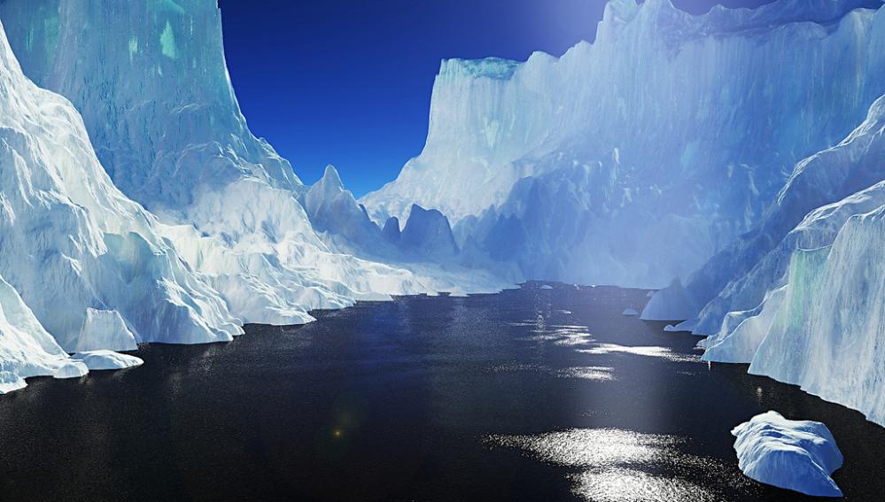 Piscina de agua dulce en el Ártico