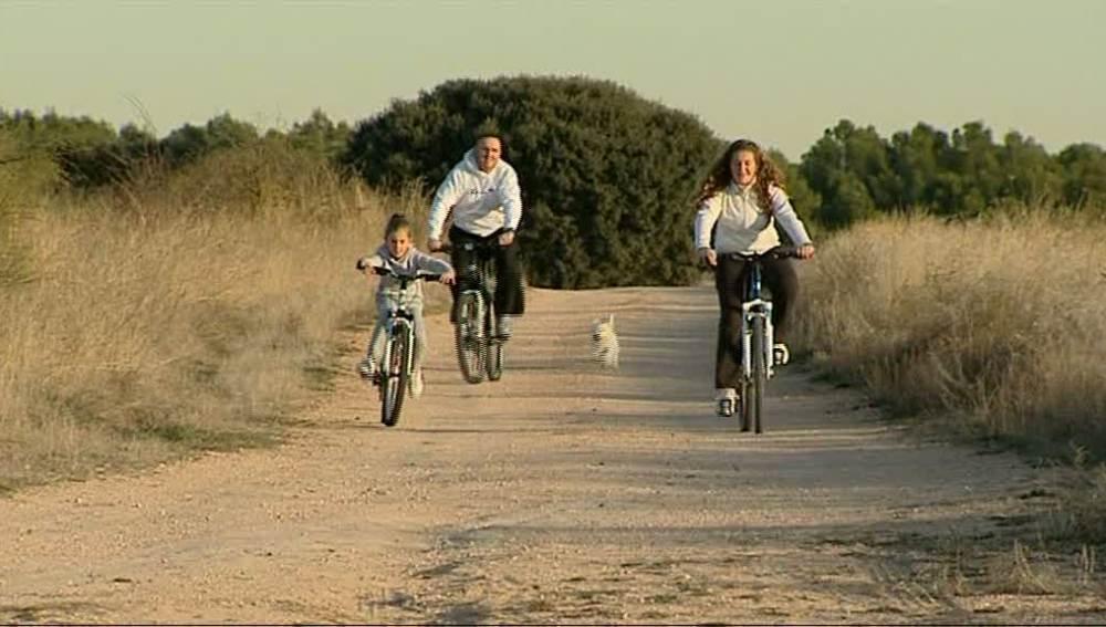 Los paseos en bici, una pasión de los Rosa