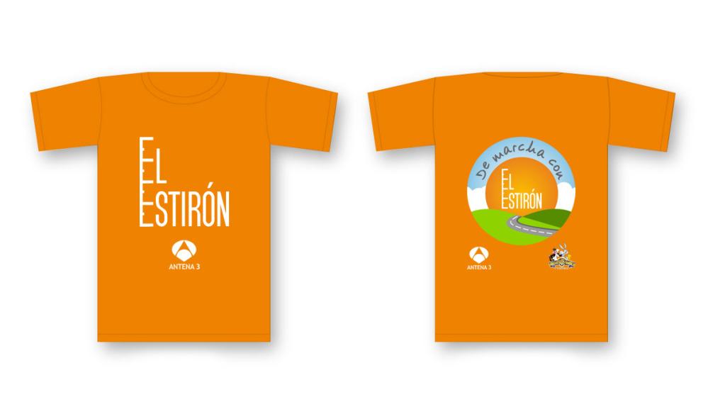 Camiseta de marcha con El Estirón