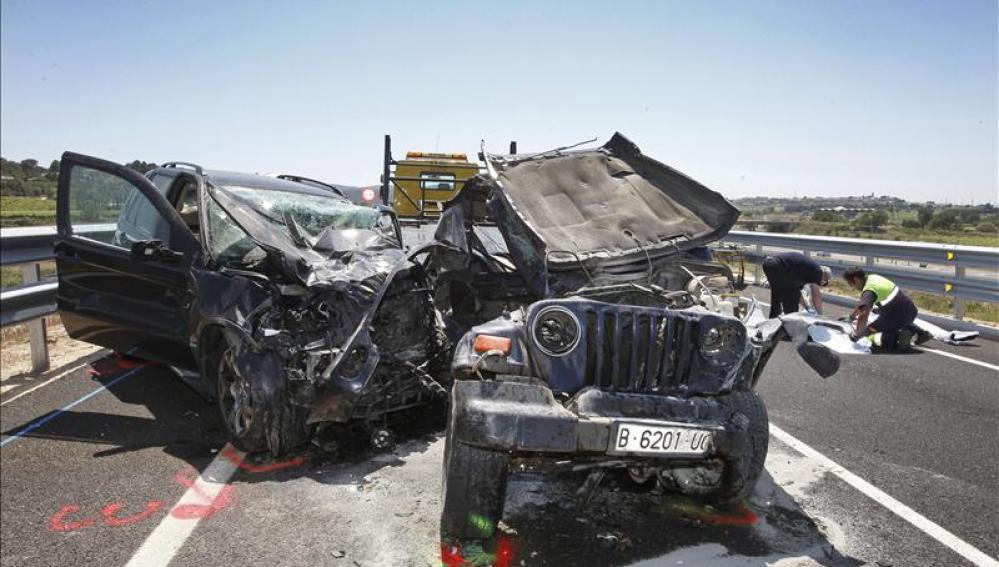 Accidente en Vilafranca del Penedès