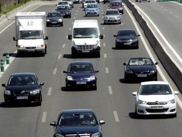Tráfico en una autovía española