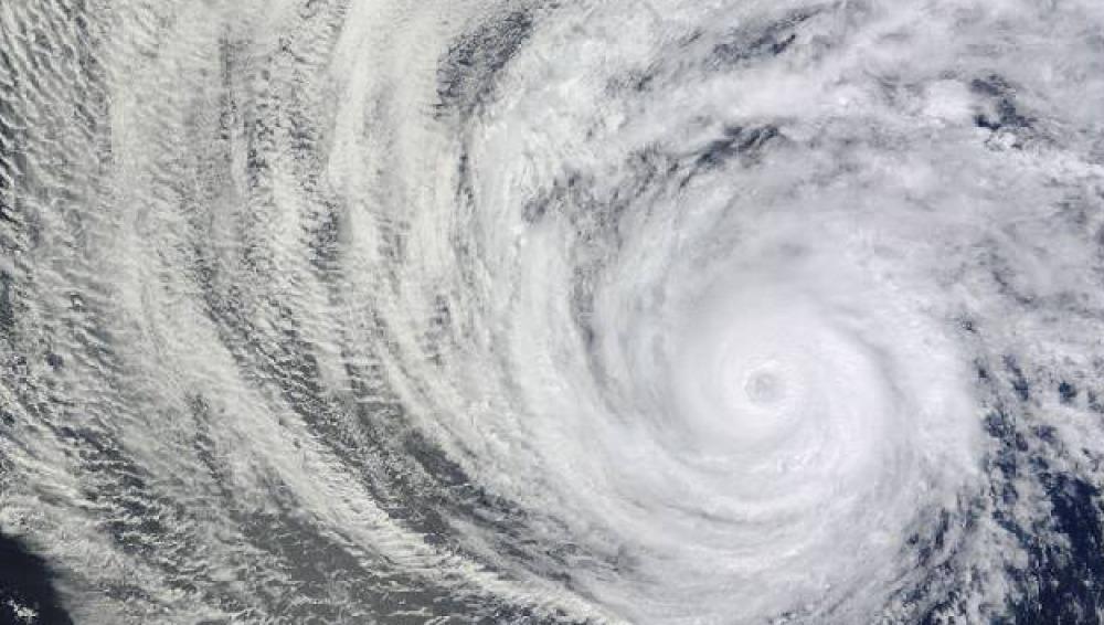 Huracán Daniel visto por la NASA
