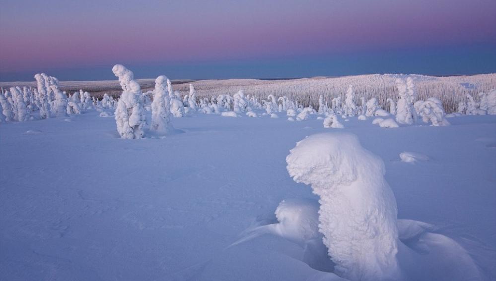 Paisaje nevado en el Ártico