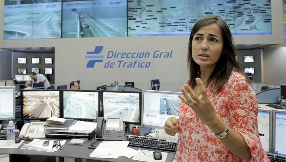 María Seguí en la sede del Centro de Gestión de la DGT