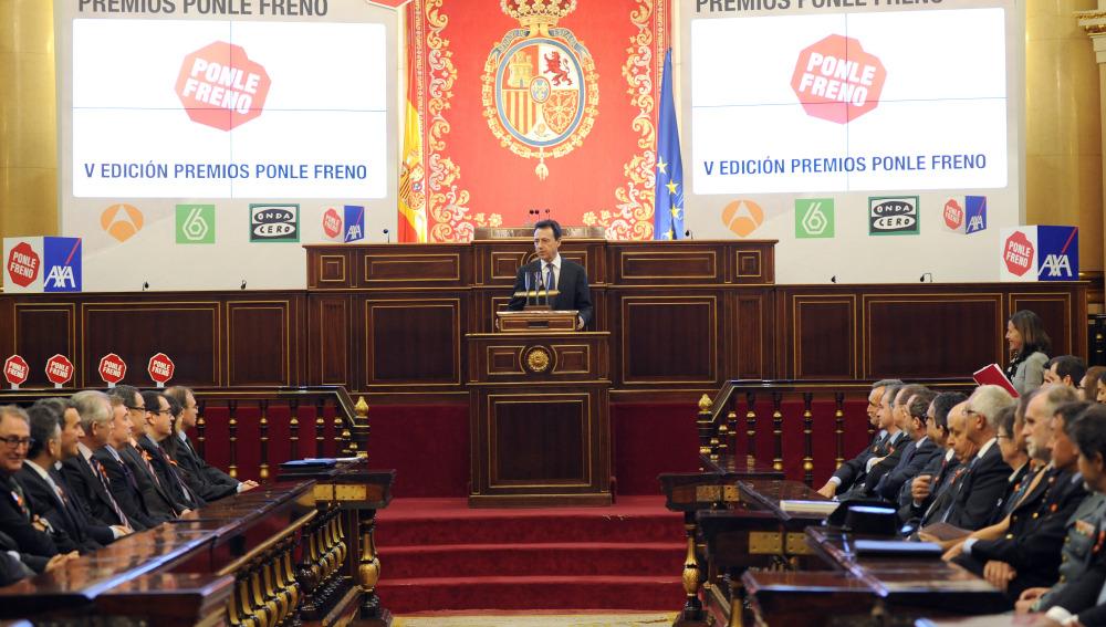 Matías Prats presentando la V Edición de los Premios Ponle Freno