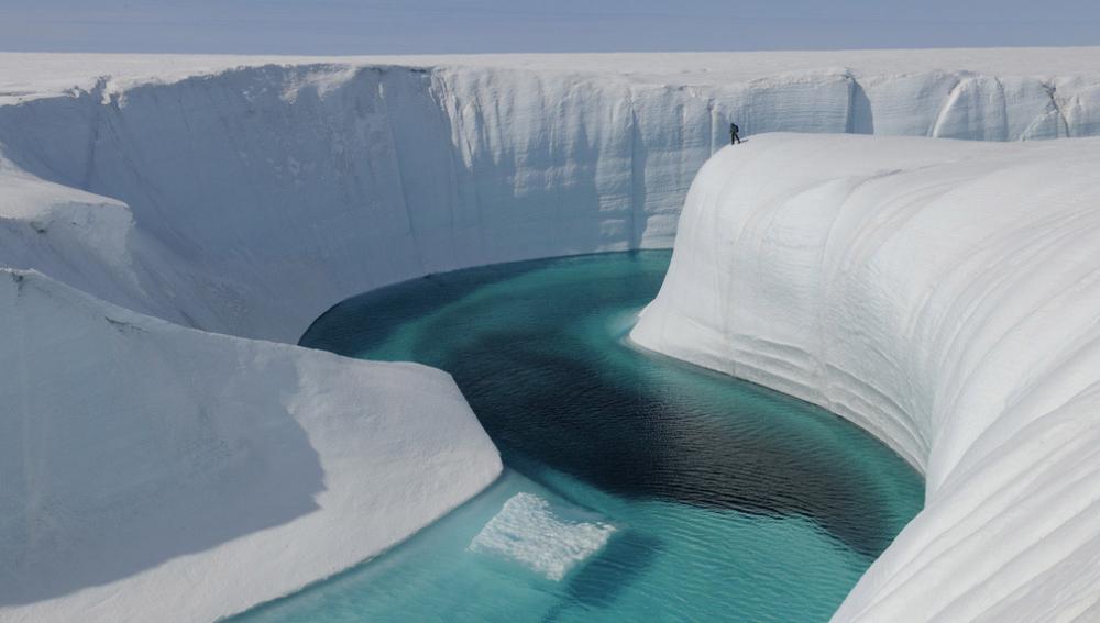 Cañón helado, Groenlandia