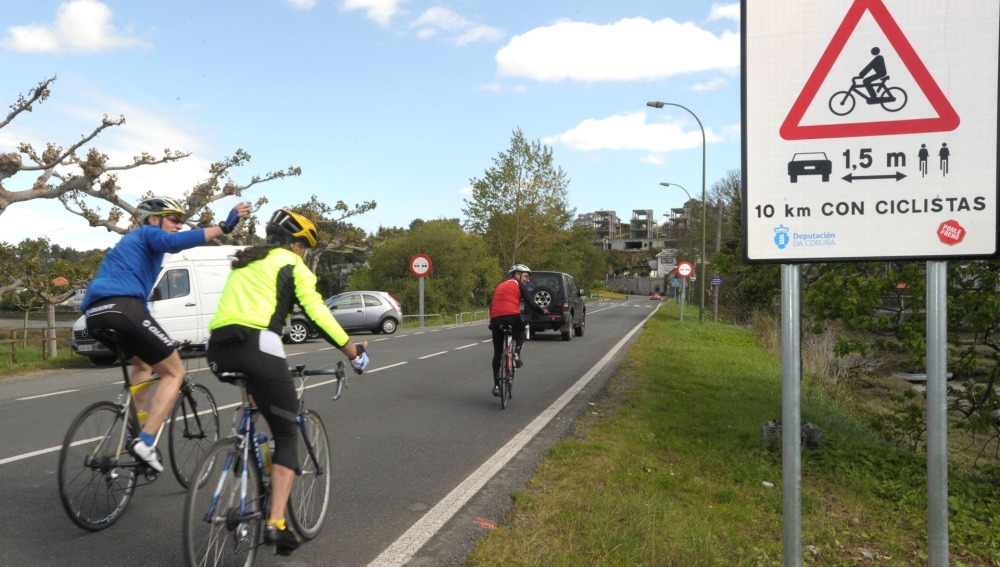 Señalización de ciclistas en A Coruña