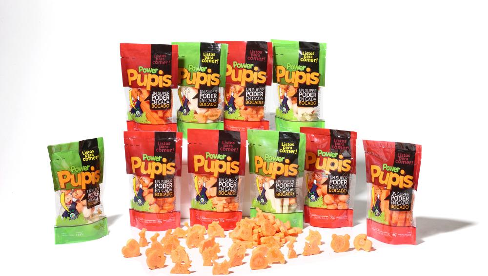 Power Pupis, hortalizas naturales y divertidas