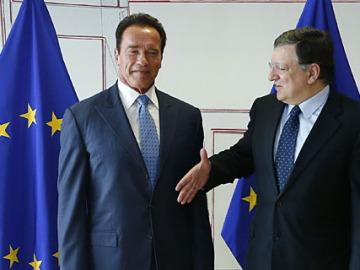 Schwarzenegger y Barroso
