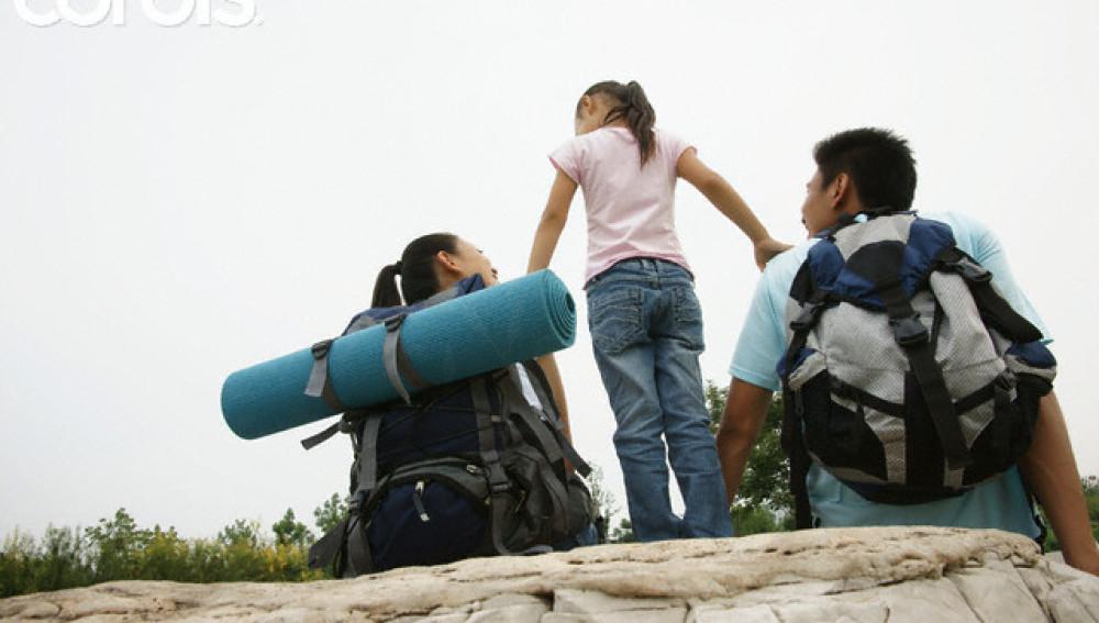 Niños senderismo
